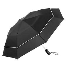 Travel Mens Auto Open&Close Vented Windproof Resistant Double Canopy Umbrella
