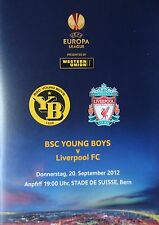 Programme UEL 2012/13 Young Boys Bern vs Liverpool FC