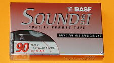 1x BASF SOUND LEVEL I 90 Cassette Tape + NEW & SEALED +