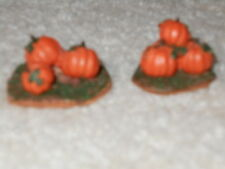 LEMAX FALL/HALLOWEEN/SPOOKYTOWN~ Vintage small pumpkin accessories-Lot of Two
