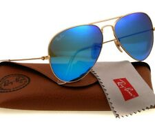 New Ray-Ban  Sunglasses RB3025 112/17 58mm Aviator Gold Frame Blue Lens