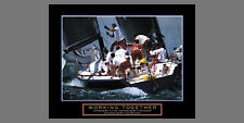 WORKING TOGETHER Sailing Yachting Teamwork Motivational POSTER Print