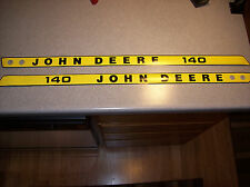 John Deere 140 Hood Decals NEW OEM M46956 M46957