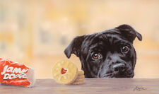 "STAFFORDSHIRE BULL TERRIER STAFFIE DOG LIMITED EDITION PRINT - ""Jammie Staffie"""