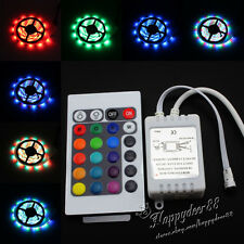 LED Strip Light Waterproof 5M 3528 SMD RGB 300 LEDs Flexible 12V+Receiver+Remote