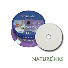 50 VERBATIM PRINTABLE Dual Layer DVD+R DL 8x doppio strato BLANK DISC 8,5 GB