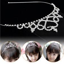 Girl Princess Hairband Child Party Bridal Crown Headband Crystal Diamond Tiara H