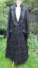 STUNNING LONG BLACK BROCADE PIRATE COAT ~ NWT ~ GOTH WHITBY STEAMPUNK