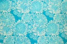 2015 Lilly Pulitzer Dobby Cotton Fabric ~ Ariel Blue Lion in the Sun~ 1 yard