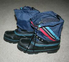 Vintage Men's Sno-Go Felt Insulated Snowmobile Boots SZ 7 Steel Shank