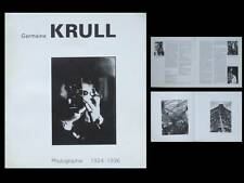 CATALOGUE GERMAINE KRULL, PHOTOGRAPHIE 1924-1936 - ARLES (1988)