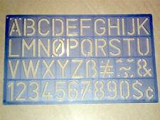 Helix Lettering Stencil 30mm standard style trace out letters and numbers