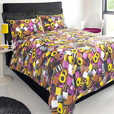 Liquorice Allsorts Sweets Double Duvet Cover Bed Set Bedding Candy New Gift