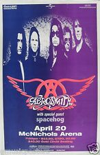 AEROSMITH / SPACEHOG 1998 DENVER CONCERT TOUR POSTER - Classic Hard Rock Music