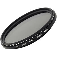 52mm fader ND filter adjustable variable ND2 to ND400