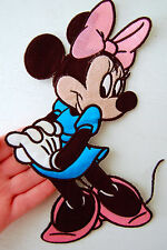 """Large MINNIE MOUSE Iron On Sew On PATCH 10"""" for JACKET Bag Shirt Crafts Disney"""