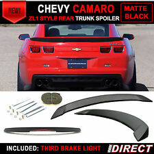 10-13 Chevy Camaro ZL1 Style Trunk Spoiler Painted Matte Black