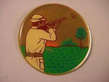 "CLAY TRAP SKEET SHOOTING 2"" EPOXY CAR EMBLEM STICKER NEW"