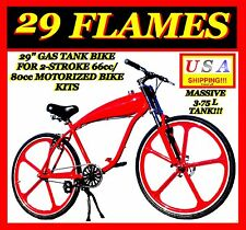 "COMPLETE 29"" GAS TANK BIKE FOR 2-STROKE 66CC/80CC MOTORIZED BICYCLE KITS"