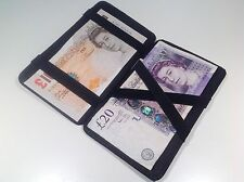 10x Black Leather Magic Wallet Milkman Taxi Trader Money Bus Puzzle job lot bulk