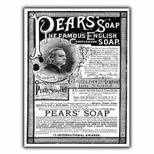 PEARS SOAP METAL SIGN WALL PLAQUE Vintage Bathroom Kitchen Advert art print 1850