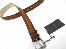 """Paul Smith Burnished Belt 30"""" CHAIN INLAY DOUBLE KEEPER RRP £130"""