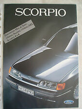 Ford Scorpio brochure c1985 German text