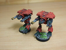 2 forgeworld Epic IMPERIAL warhound TITANS bien peintes (315)
