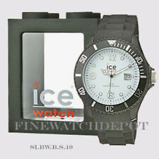 Authentic Unisex Ice Sili Collection Big White Black Watch SI.BW.B.S.10