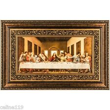 """The Last Supper"" by Leonardo Da Vinci-Framed - 42"" x 27"""