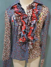 WOMENS OILILY RUFFLED BIRD BLOUSE SIZE 38 8