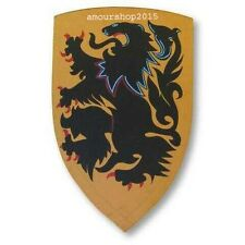 Medieval Crusader Lion Shield - Hand Painted