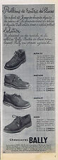 PUBLICITE ADVERTISING 074 1953 BALLY chaussures  pour homme