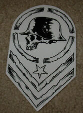 "METAL MULISHA Chevron Wht Blk Helmet Skate Sticker 6"" motocross skateboard decal"