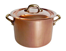Vtg Mauviel Williams Sonoma France 3.5 quart Copper Stock Pot Pan Stainless Int