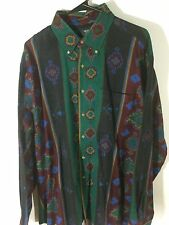 BACKPACKER OUTDOORS Cotton Chamois Multi-Color Southwestern Indian Shirt XL