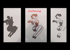 Airbrush Schablone Step by Step 161 Pin Up 2