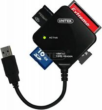 New Unitek Y-3201 USB 3.0 Multi Card Reader ( For SD, SDXC, M2, CF, MS )