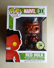 Funko POP Red Metallic The Hulk Marvel #31 Vinyl Figure 2013 SDCC Exclusive