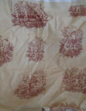 Rare Naughty  Mischievous Children Cherubs Design Fabric   Toile Du Jouy