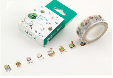 15mmX10M Nature Plant succulent bonsai Washi Tape Diary Filofax Masking Tape