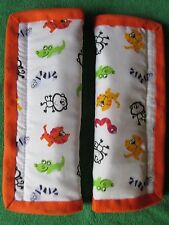 Lightly padded, Zoo Animals, Car Seat Belt Cover Pads. X2