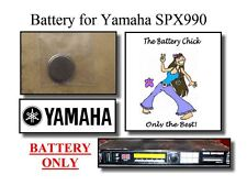 Battery for Yamaha SPX990 Effects Processor -Internal Memory Replacement Battery