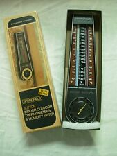 VINTAGE SPRINGFIELD SUTTON INDOOR OUTDOOR THERMOMETER & HUMIDITY METER
