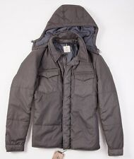 NWT $1495 BORRELLI LUXURY VINTAGE Gray-Brown Down-Filled Parka 48/M Italy Jacket