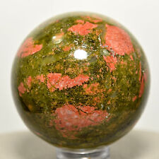 40mm Unakite Sphere Green Epidote w/ Pink Orthoclase Polished Crystal Stone Ball