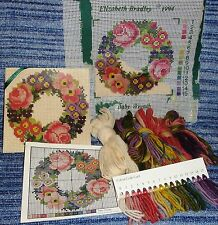 GENUINE ELIZABETH BRADLEY NEEDLEWORK MINI KIT BABY WREATH HALF WORKED EX DISPLAY
