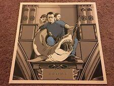 Jaws Brody Quint Hooper Art Print Poster Mondo Joshua Budich Durieux Spielberg
