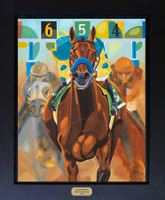 American Pharoah Triple Crown Winner Signed Canvas Print Horse Racing SFASTUDIO