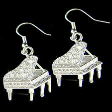 w Swarovski Crystal ~Grand Baby Piano~ Musical Instrument Jewelry music Earrings
